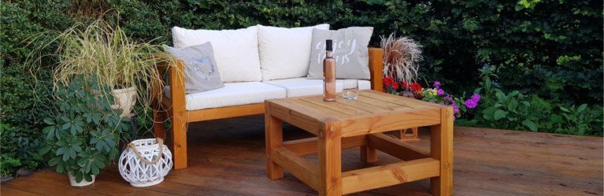 Gartentisch selber bauen aus Holz